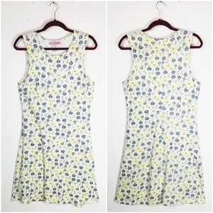 Vintage 90s Yellow Floral Dress